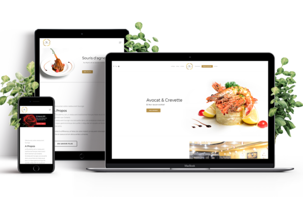 Refonte du site Double You Restaurant, un restaurant lounge et hallal situé à Corbeil-Essonne Mockup multi-supports du site web pushrdv par World Becomes Digital. Déclinaison sur ordinateur, tablette et mobile. Site web 100% responsif.